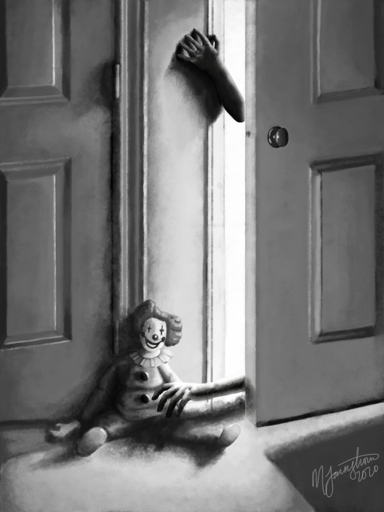 """""""Creeps in the Doorway"""" by Mary Farnstrom"""