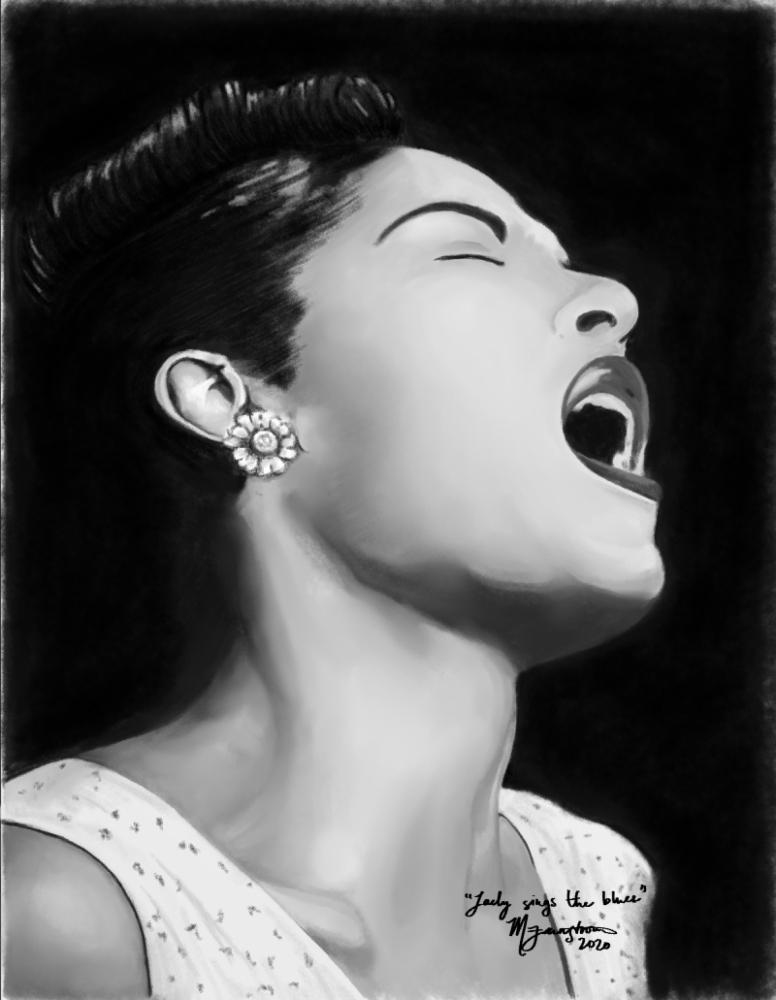 """""""Lady Sings the Blues"""" by Mary Farnstrom"""