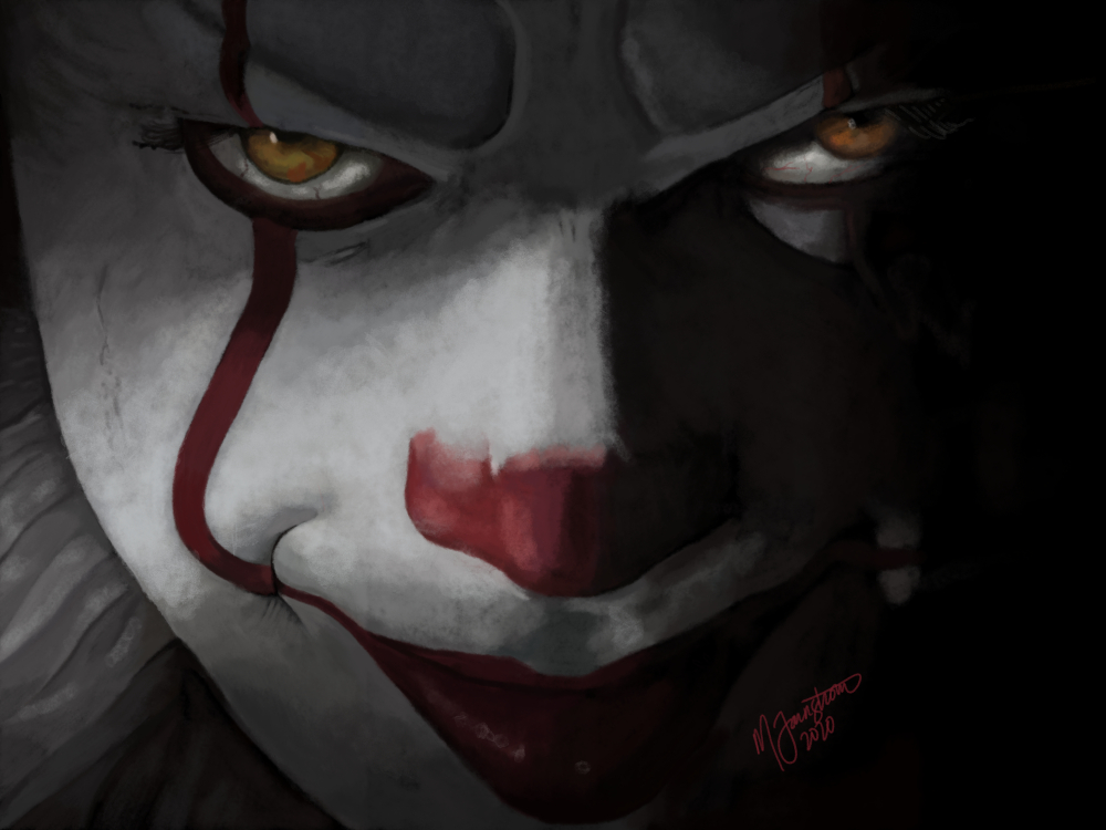 """""""Pennywise the Dancing Clown"""" by Mary Farnstrom"""