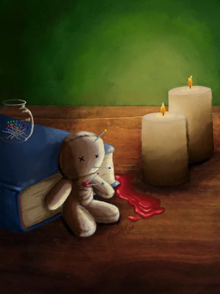 """""""Voodoo Doll and Altar"""" by Mary Farnstrom"""